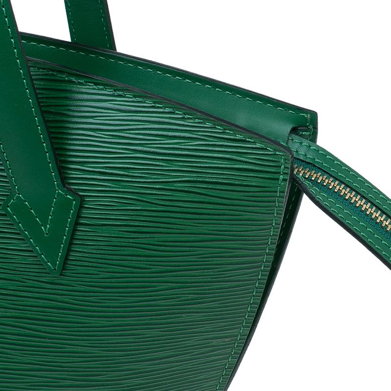Louis Vuitton Borneo Green Epi Leather Saint Jacques PM Bag