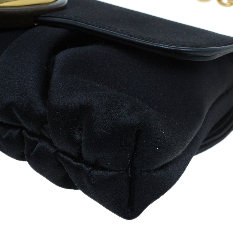 Gucci Black Satin Hysteria Evening Bag