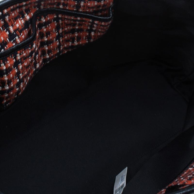Marc Jacobs Orange Tweed The Hole Tote Bag