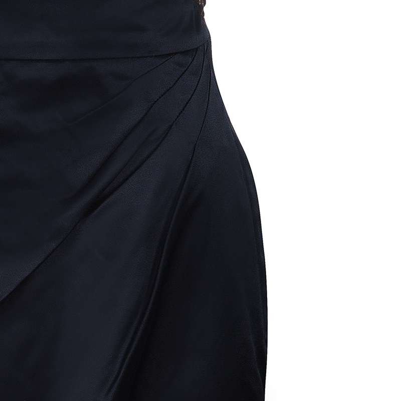 Chanel Black Silk Skirt M