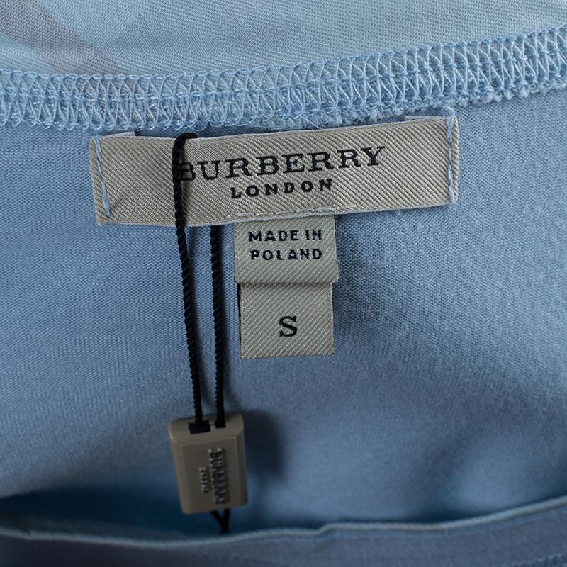 Burberry Light Blue Cotton T-Shirt S