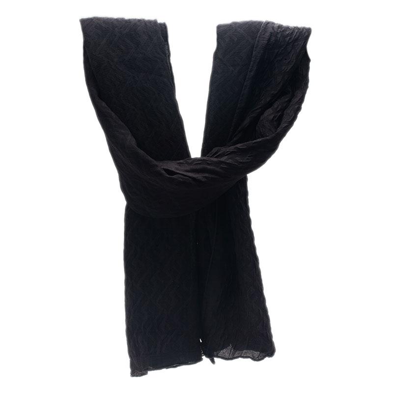 Fendi Black Zucca Silk Stole