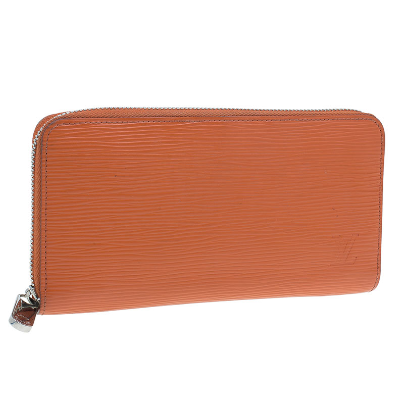 Louis Vuitton Orange Epi Leather Zippy Wallet