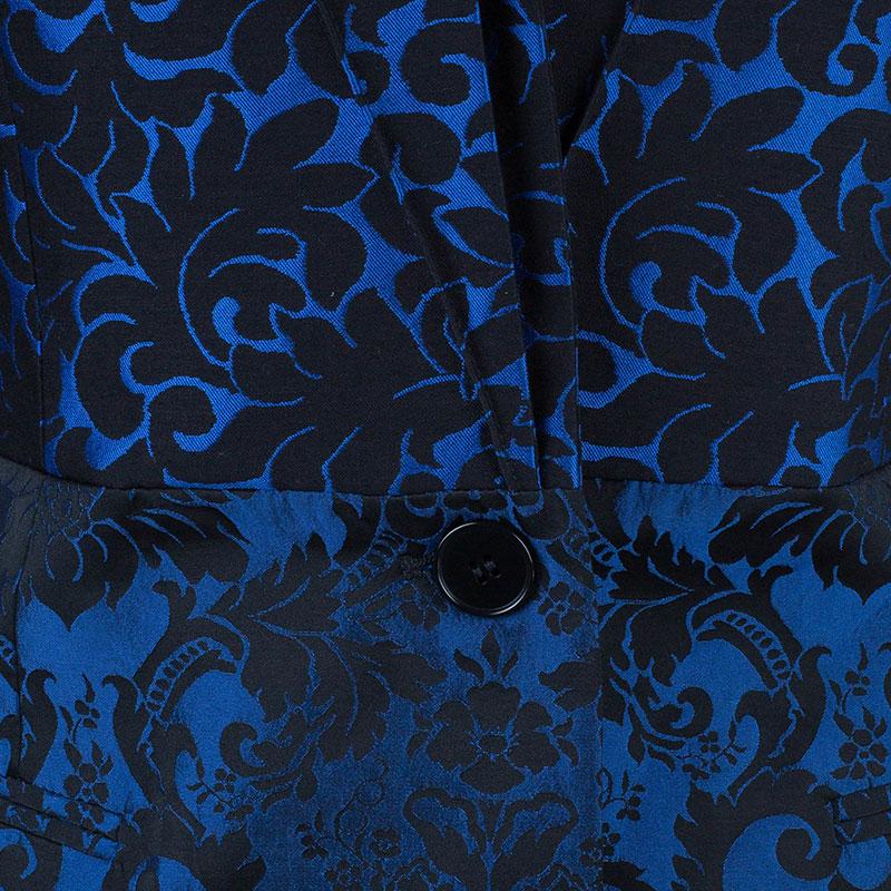 Stella McCartney Blue Wool Brocade Jacquard Jacket M