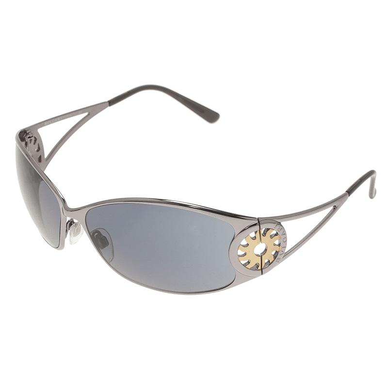 Bvlgari Black 657 Cutout Rectangle Sunglasses