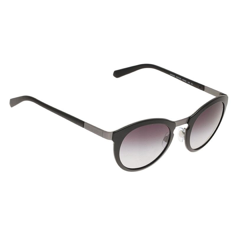 Giorgio Armani Black Phantos Round Sunglasses