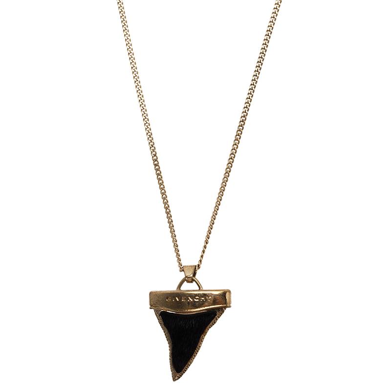 Givenchy Mini Shark's Tooth Ponyhair Necklace