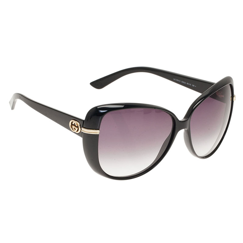 Gucci Black GG Oversized Cat Eye Sunglasses
