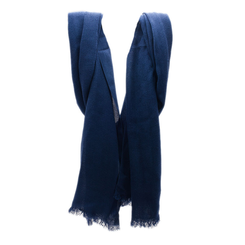 Gucci Navy Blue Interlocking GG Scarf