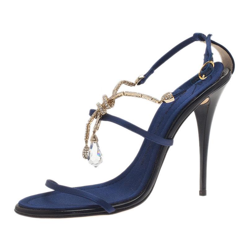 Giuseppe Zanotti Navy Blue Sandals Size 39