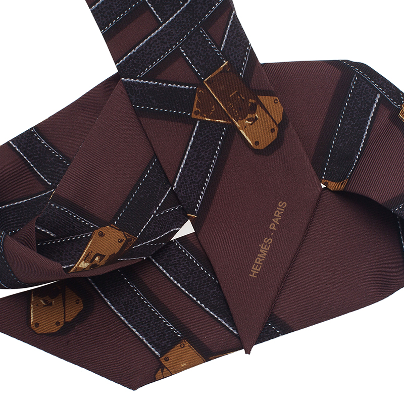Hermes Brown Kelly Neck Scarf