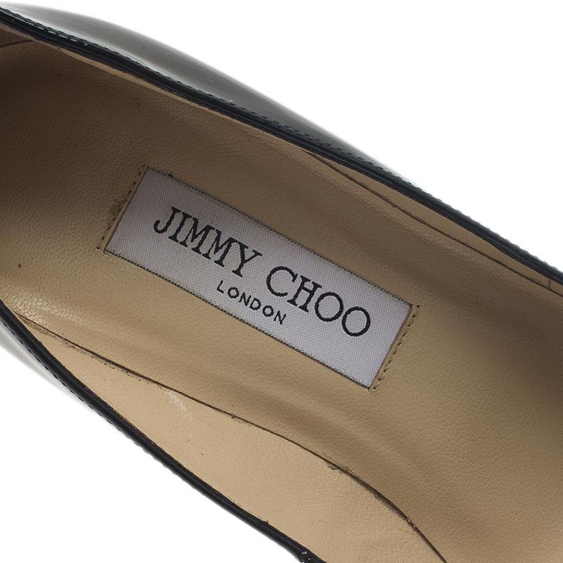 Jimmy Choo Black Patent Aimee Pumps Size 37