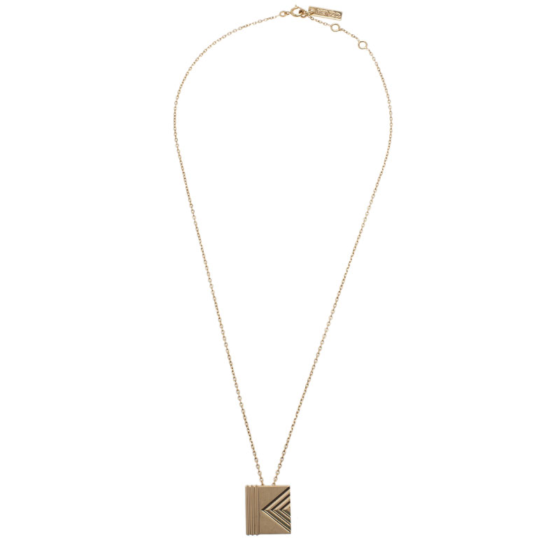 Kenzo Gold Plated Pendant Necklace
