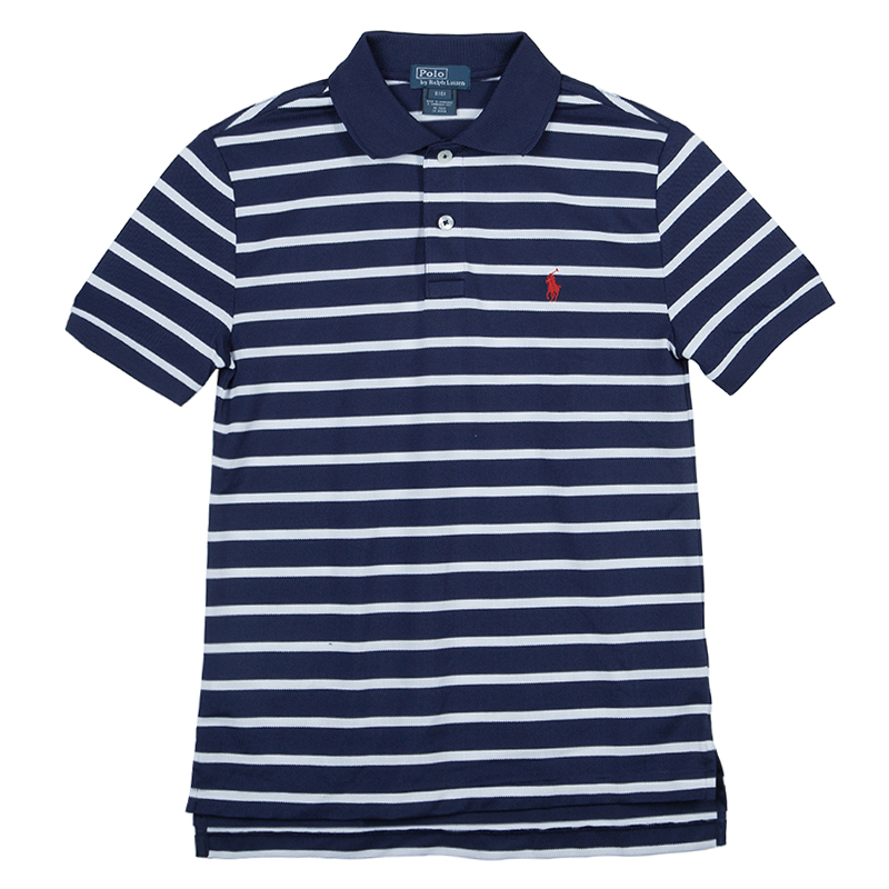 f9b3ea4b ... Ralph Lauren Navy Blue and White Striped Polo Shirt 8 Yrs. nextprev.  prevnext
