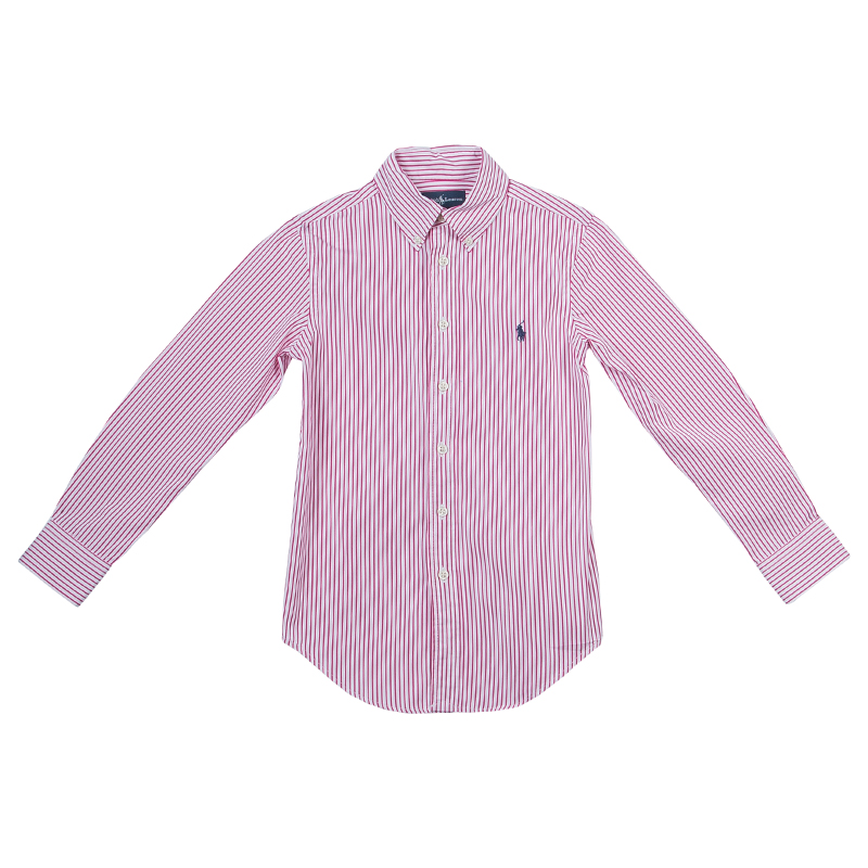 8d1e6303d1 ... Ralph Lauren Red and White Striped Long Sleeve Buttondown Cotton Shirt  8 Yrs. nextprev. prevnext