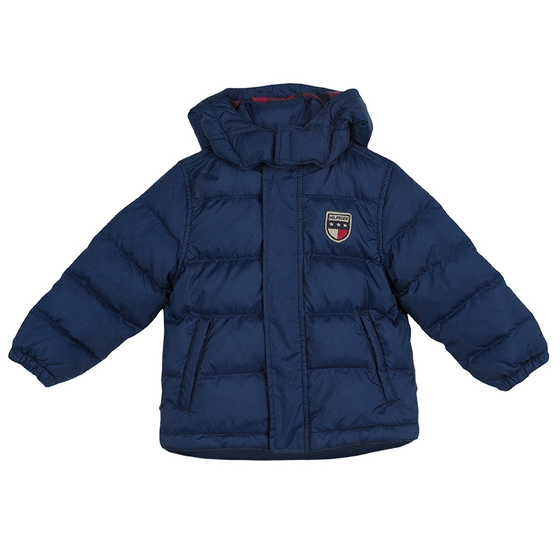 5887688c6 Buy Tommy Hilfiger Blue Quilted Hooded Nirvada Down Jacket 3 Yrs ...