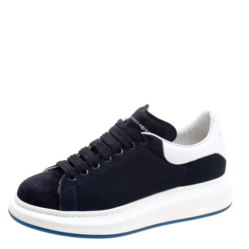 ee6242b845bb ... Alexander McQueen Navy Suede and Mesh Platform Sneakers Size 43.  nextprev. prevnext