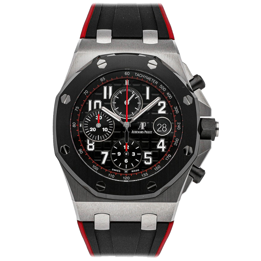 Audemars Piguet Black Stainless Steel Royal Oak Offshore Chronograph 26470SO.OO.A002CA.01 Men's Wristwatch 42 MM