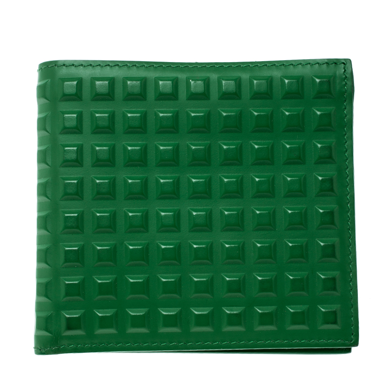 79bcceaeb3 ... Balenciaga Green Leather Grid Square Bifold Wallet. nextprev. prevnext