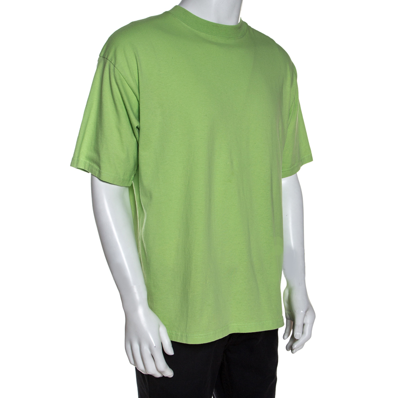 Balenciaga Green Cotton Oversized T-Shirt