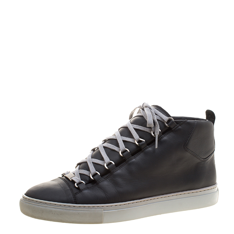 e65b0fddb56c0 Buy Balenciaga Black Leather Arena High Top Sneakers Size 45 124566 at best  price | TLC