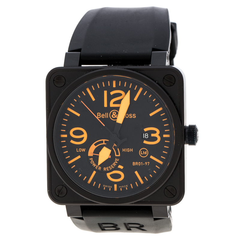 timeless design 78ad6 1c36c Buy Bell & Ross Black Coated Stainless Steel BR01-97 Limited ...