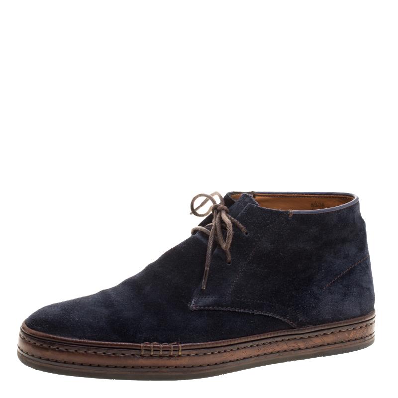 82f4981bae3c8 ... Berluti Blue Suede Lace Up Desert Boots Size 42. nextprev. prevnext