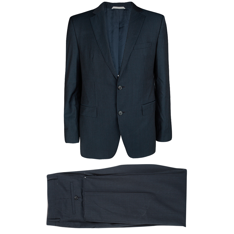 cb7282bbf Buy Boss by Hugo Boss Navy Blue Striped Wool The James/Sharp 2 Suit ...