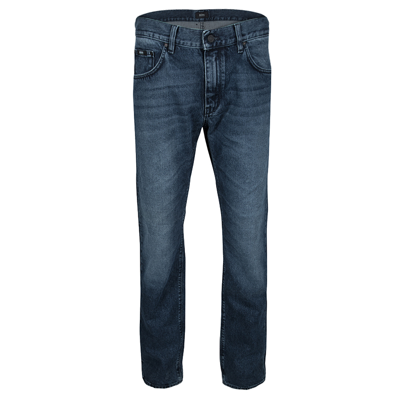Boss By Hugo Boss Indigo Faded Effect Denim Maine1 Jeans XL