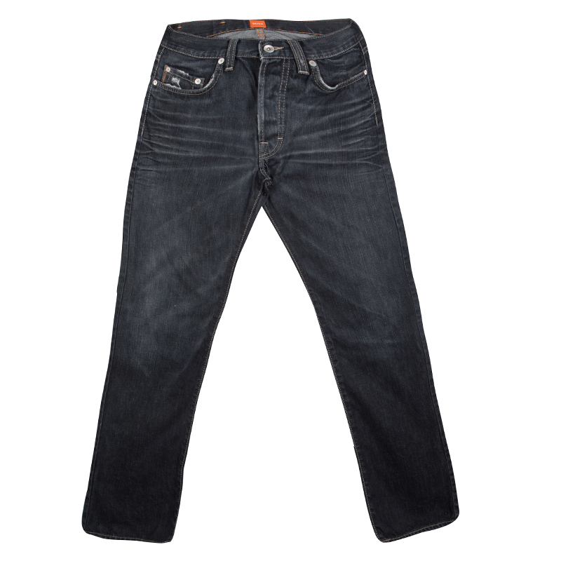 Boss Orange By Hugo Boss Indigo Dark Wash Faded Effect Denim Jeans S