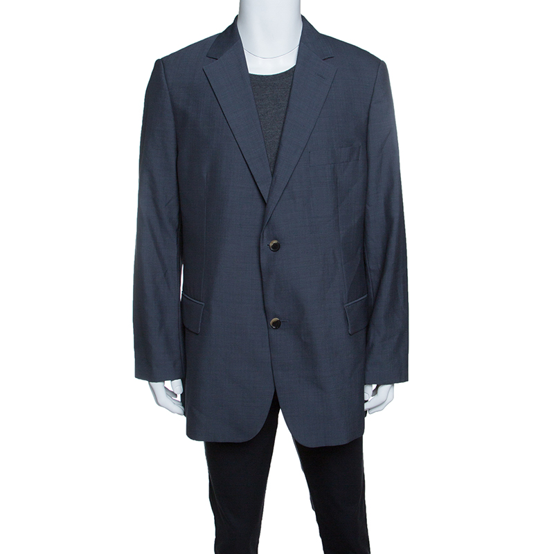 f220d3c1d Buy Boss By Hugo Boss Grey Wool Mohair Passolini Tailored Blazer 4XL ...