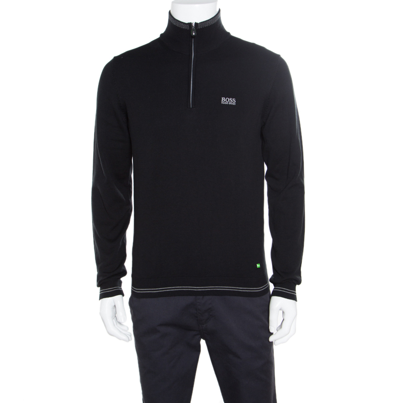 b1a098158 ... Hugo Boss Black Striped Trim Zime W17 Sweater S. nextprev. prevnext