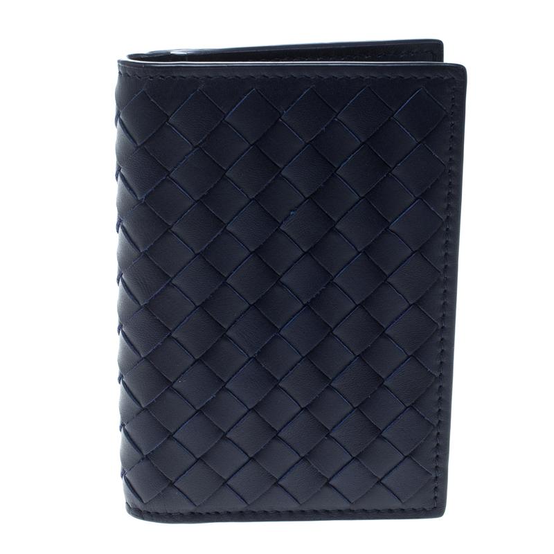 df2fe44c8cffc ... Bottega Veneta Dark Blue Intrecciato Leather Card Holder. nextprev.  prevnext