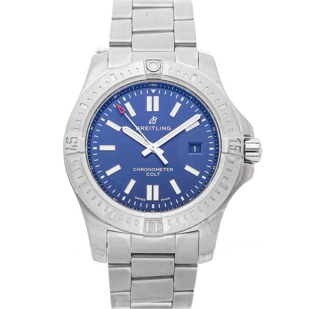 BREITLING BLUE STAINLESS STEEL COLT A17388101C1A1 MEN'S WRISTWATCH 44 MM