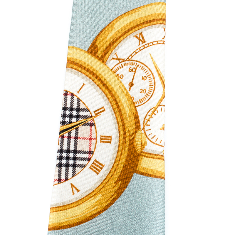 Burberry London Bleu Archives Montres De Soie À Imprimé Cravate Slim