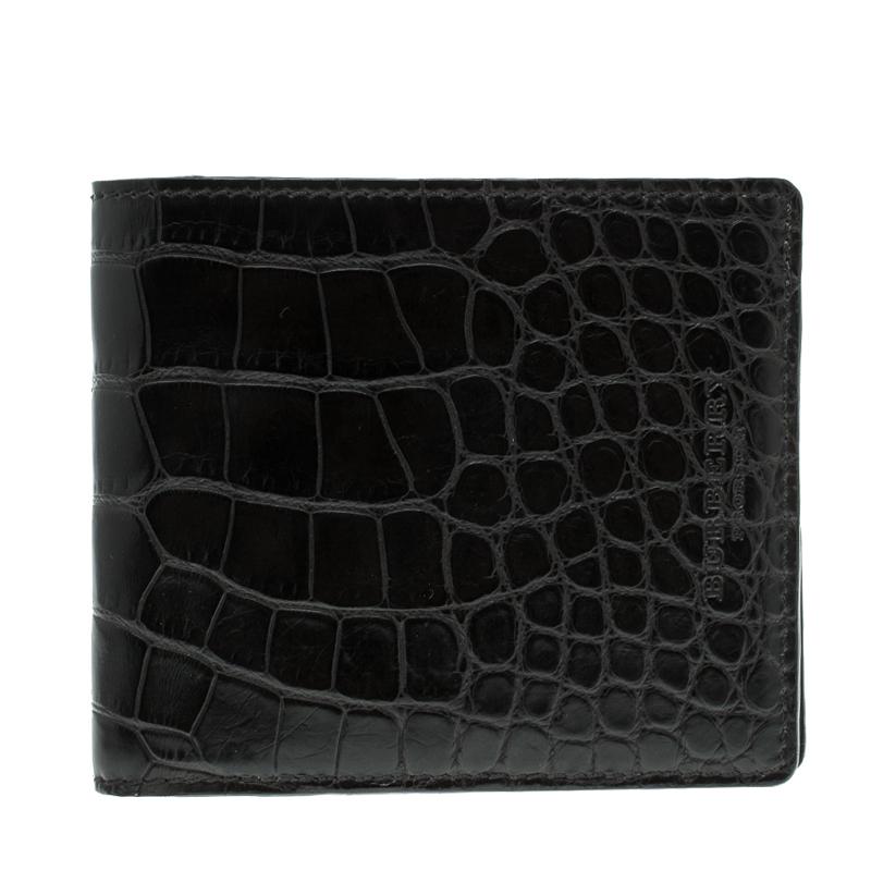 8798e3dbc59a Burberry Black Alligator Bifold Wallet