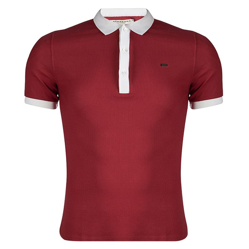 27f988cb ... Burberry London Poppy Red Contrast Collar Polo T-Shirt XS. nextprev.  prevnext