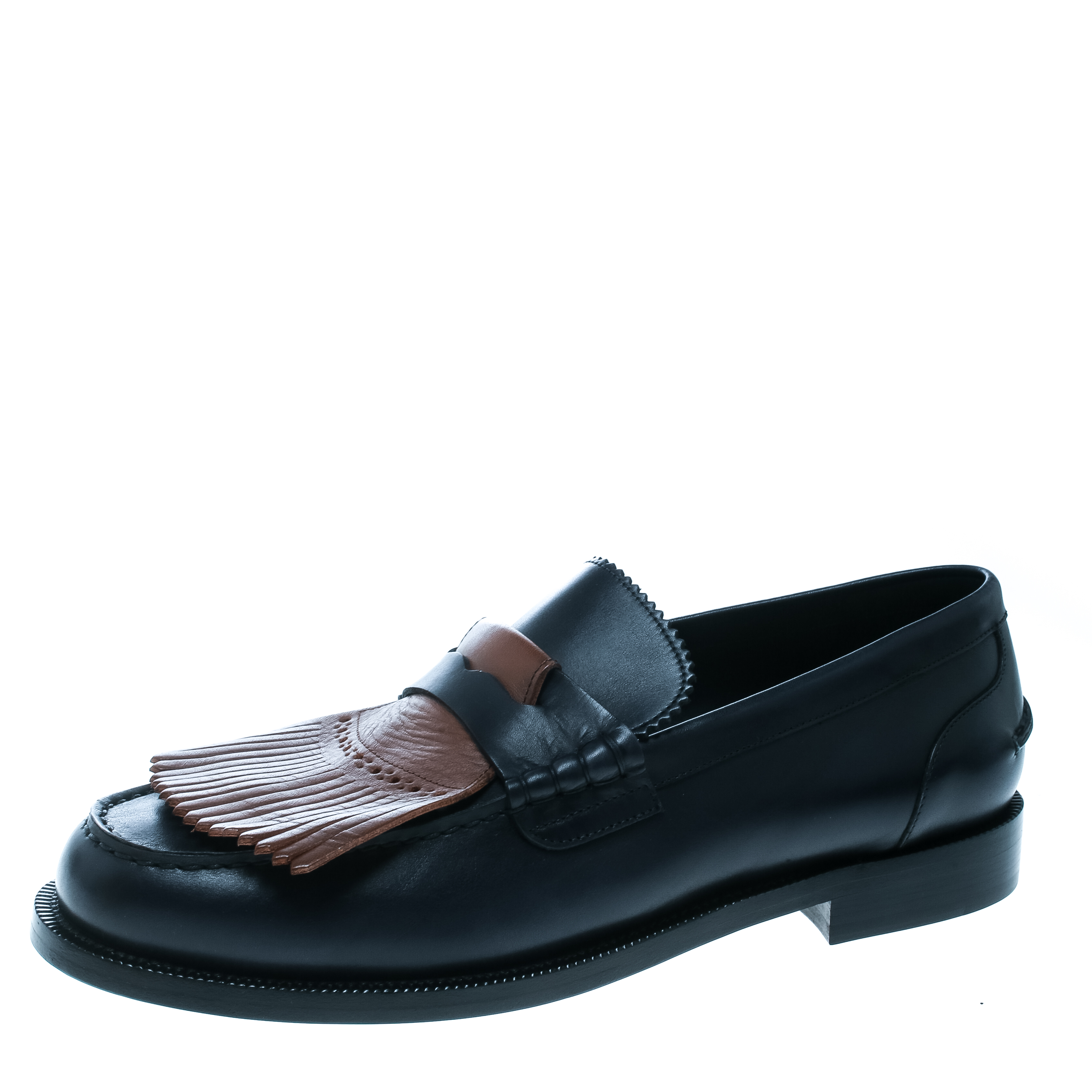 0a62b64ed5c22 ... Burberry Dark Blue Leather Bedmoore Fringe Detail Penny Loafers Size  44. nextprev. prevnext