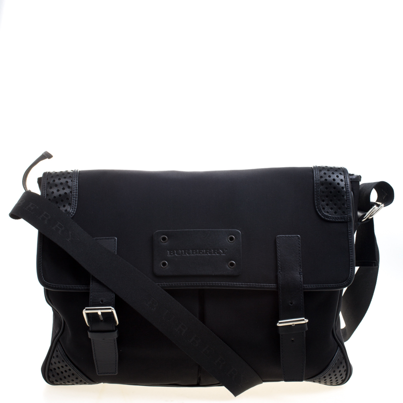 967fb887c ... Burberry Black Nylon and Leather Trim Messenger Bag. nextprev. prevnext
