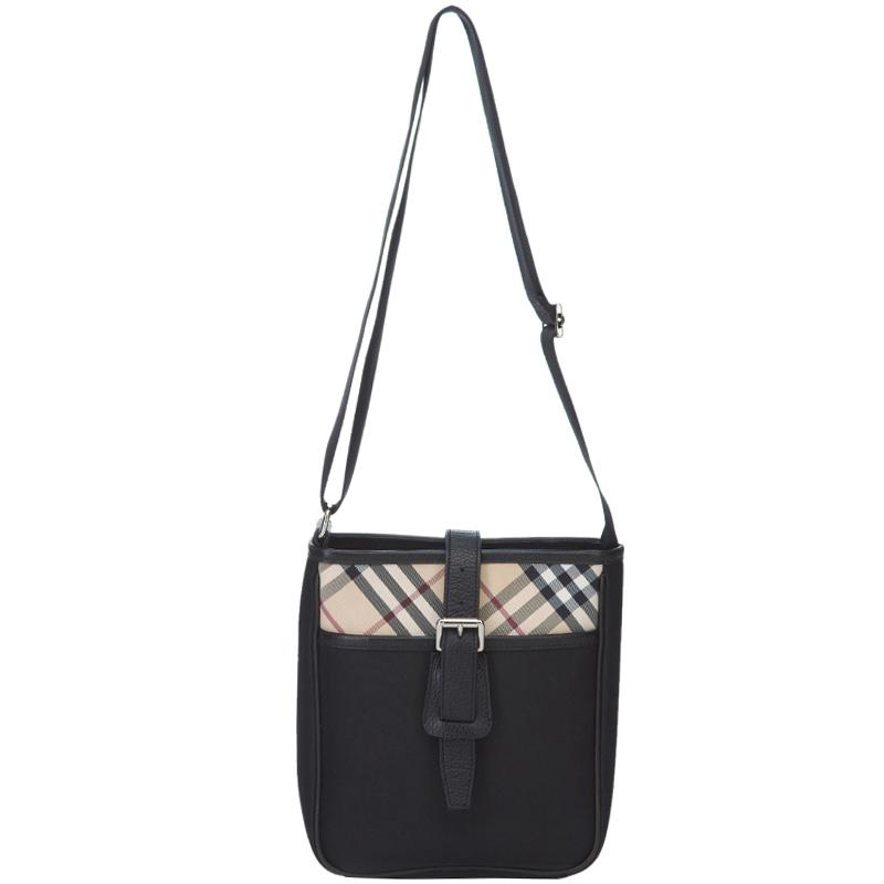 Купить со скидкой Burberry Black Nylon/PVC Messenger Bag