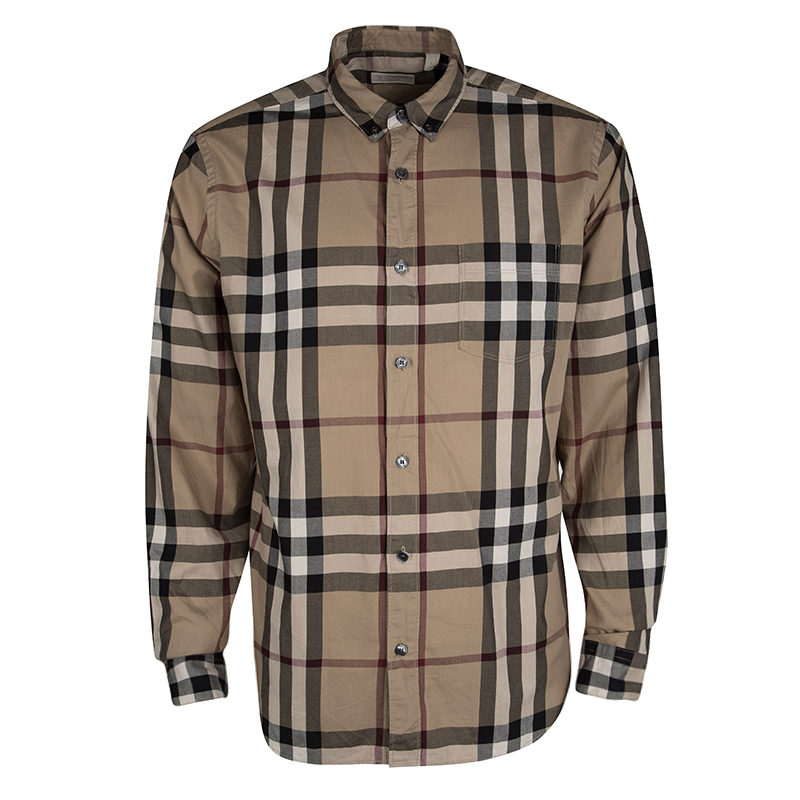 burberry long sleeve button up
