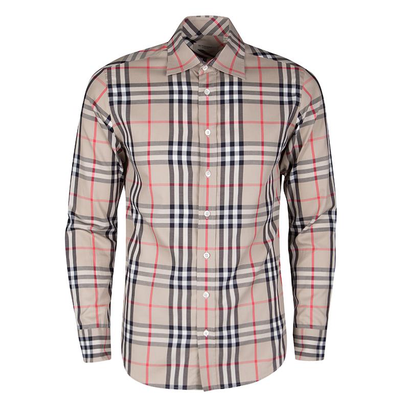 75f81006 ... Burberry London Beige Nova Check Cotton Long Sleeve Button Front Shirt  S. nextprev. prevnext