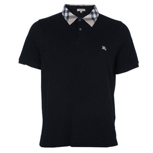 a103e53d ... Burberry Men's Black Novacheck Collar Polo Shirt XL. nextprev. prevnext