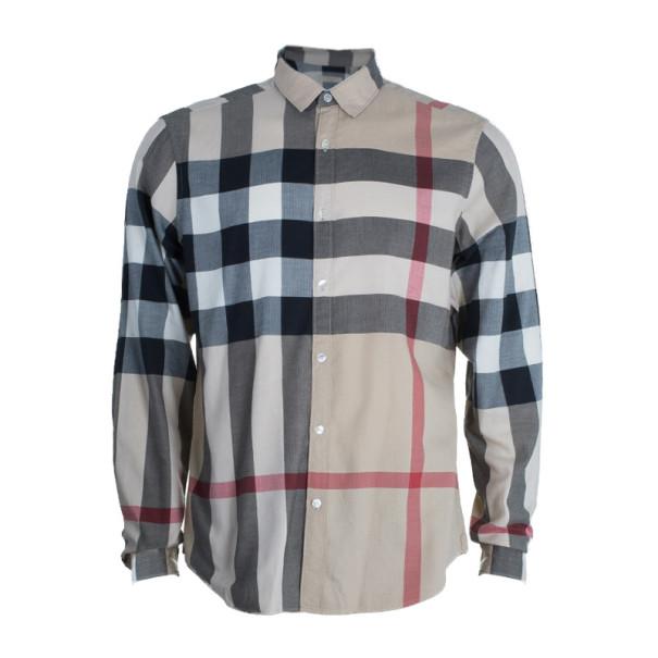 db9c090be6385 إشتري قميص بربري نوفاتشيك رجالي بأزرار L 4003 بأفضل الاسعار