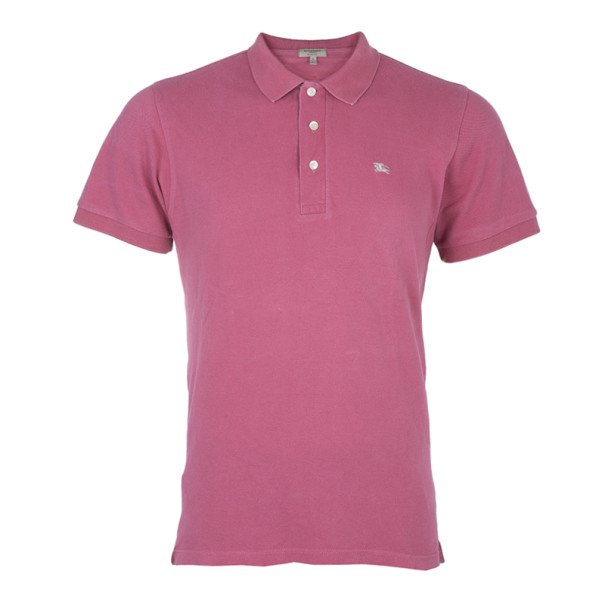 e0a1550a54c3 Buy Burberry London Mens Pink Slim Fit Polo T-Shirt L 4427 at best ...