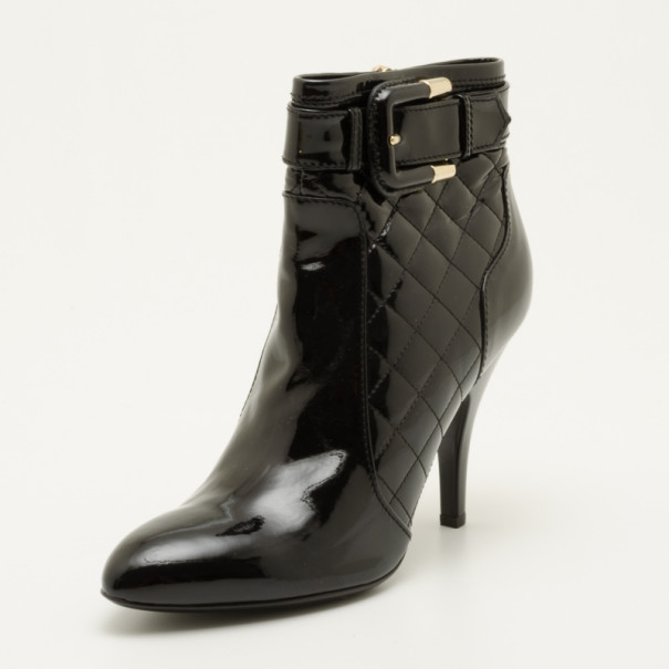 626f7fd1793e ... Burberry Black Quilted Patent Leather Ankle Boots Size 40. nextprev.  prevnext