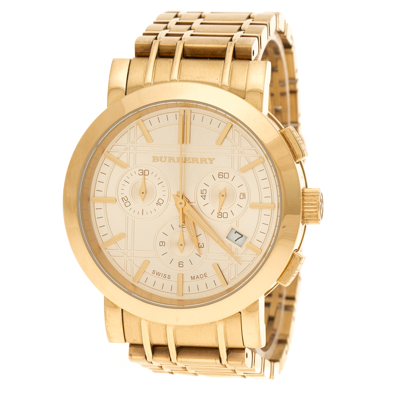 8e35232c7550c إشتري ساعة يد نسائية بربري كلاسيك BU1757 ستانلس ستيل مطلي ذهب أصفر ...