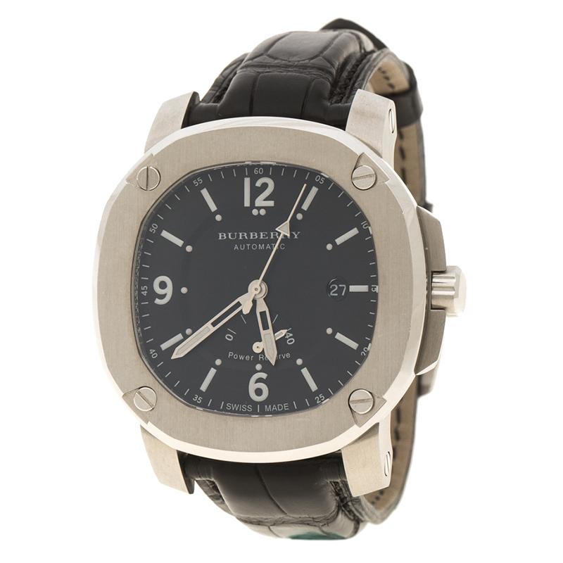 d9af8aaeb4c0 ... Burberry Black Stainless Steel The Britain BBY1002 Men's Wristwatch 45  mm. nextprev. prevnext