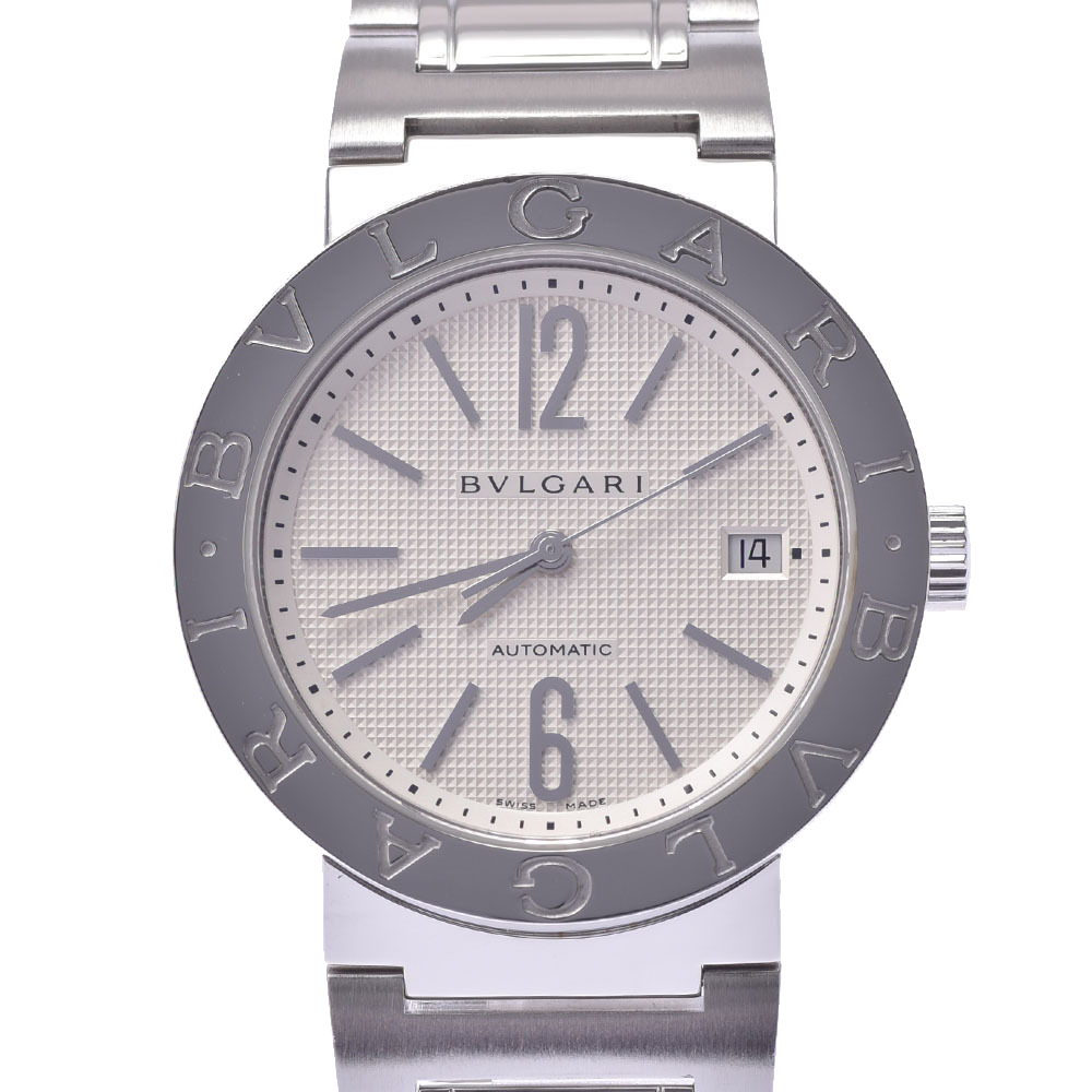 Bvlgari Silver Stainless Steel BB38SS Bvlgari Automatic Men's Wristwatch 38 MM
