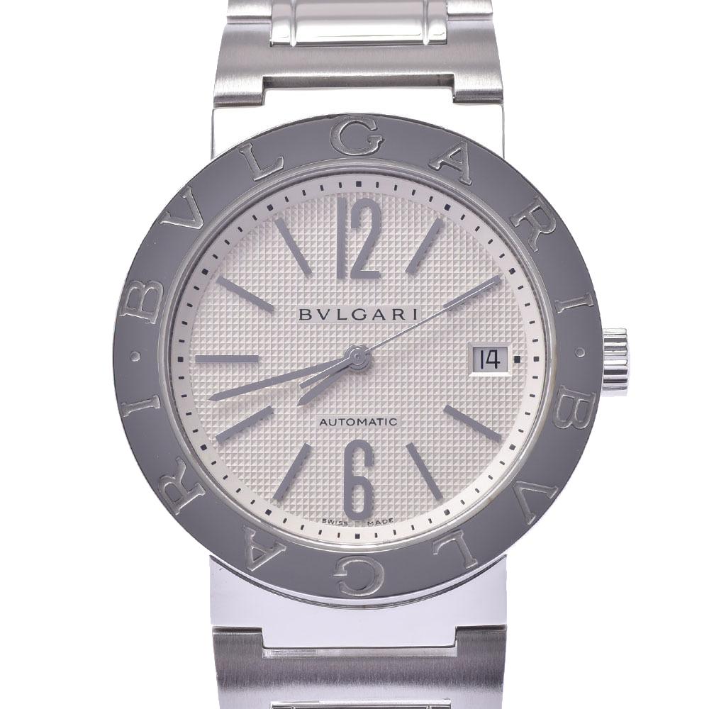 Bvlgari Silver Stainless Steel BB38SS Bvlgari Automatic Men's Wristwatch 38 MM
